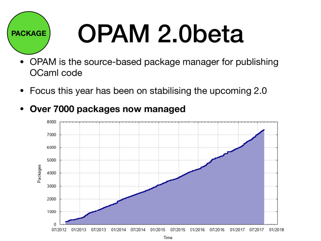 OPAM 2.0beta • OPAM is the source-based package...
