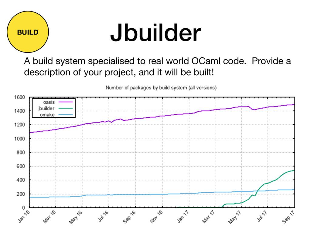 Jbuilder A build system specialised to real wor...