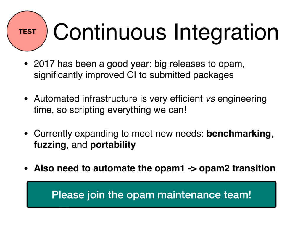 Continuous Integration • 2017 has been a good y...