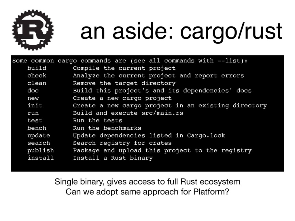 Some common cargo commands are (see all command...
