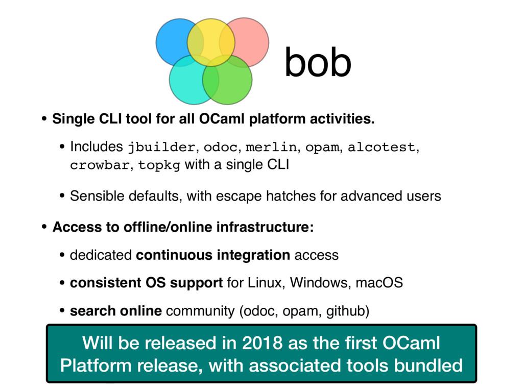 bob • Single CLI tool for all OCaml platform ac...