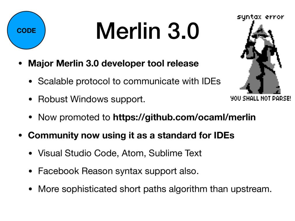 Merlin 3.0 • Major Merlin 3.0 developer tool re...