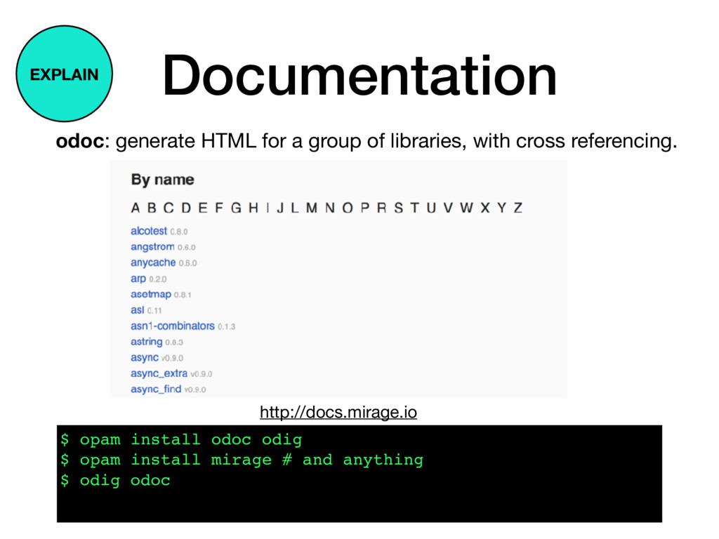 Documentation odoc: generate HTML for a group o...