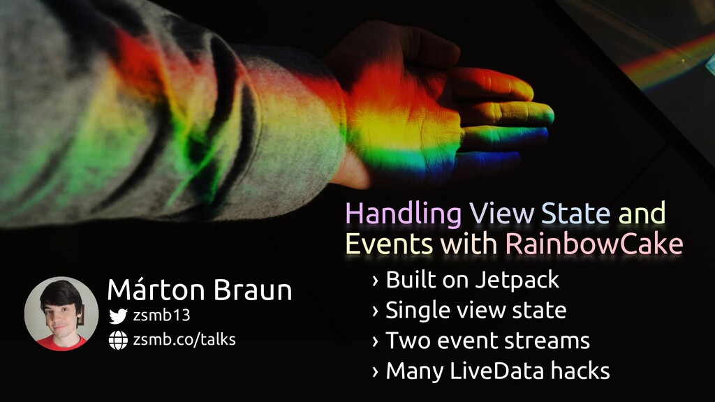 Handling View State and Events with RainbowCake...