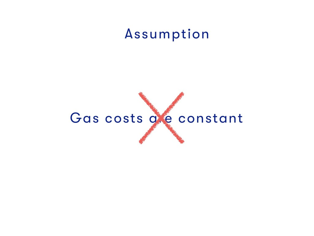 Assumption Gas costs are constant