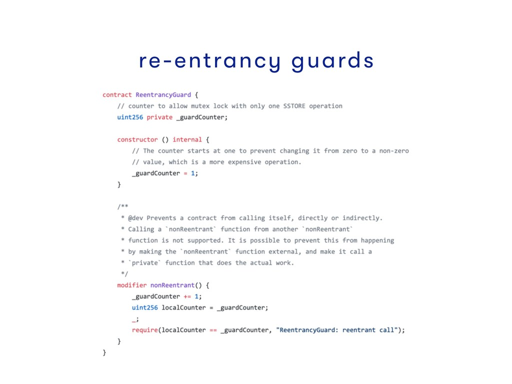 re-entrancy guards