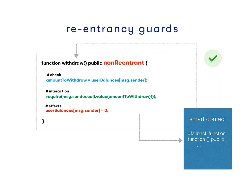 function withdraw() public nonReentrant { # che...