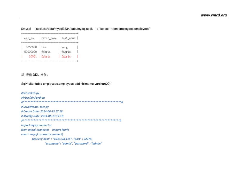 www.vmcd.org $mysql --socket=/data/mysql3334/da...