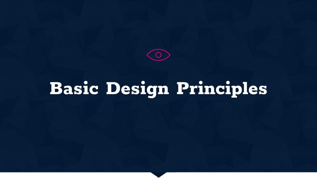 Basic Design Principles H