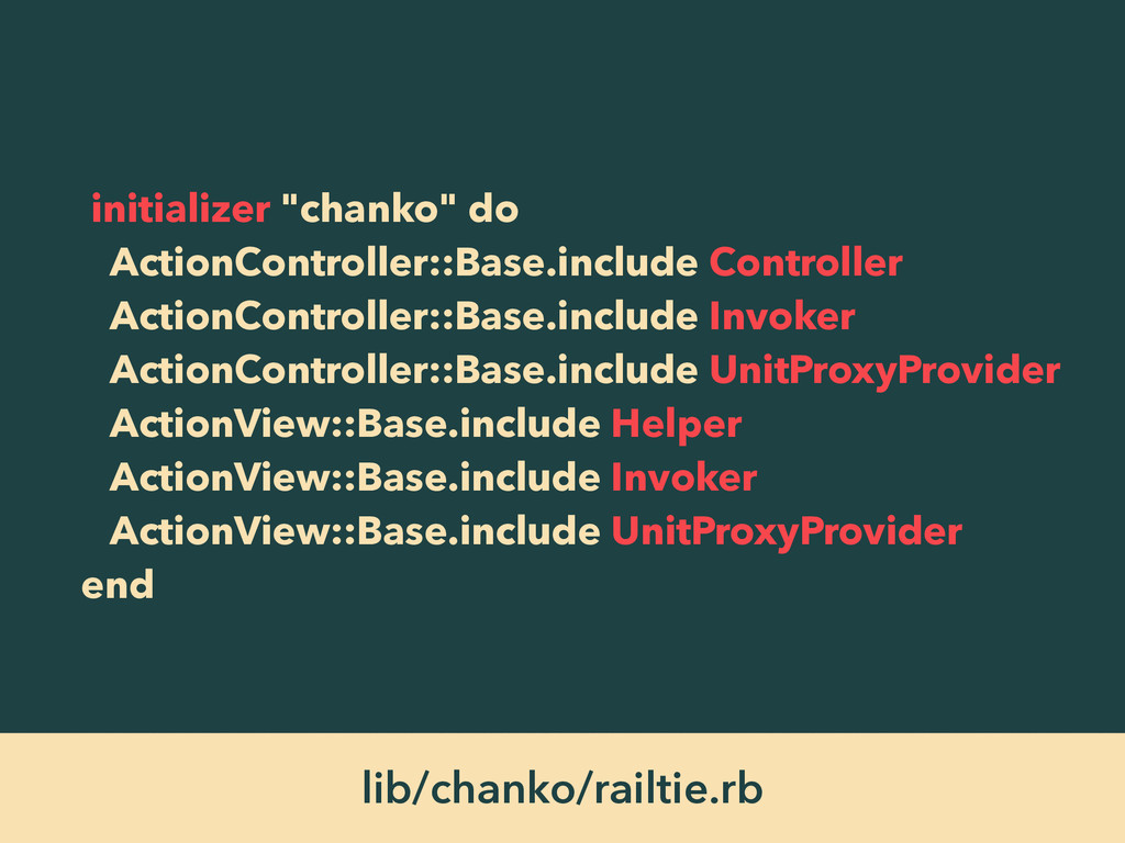 "initializer ""chanko"" do ActionController::Base...."