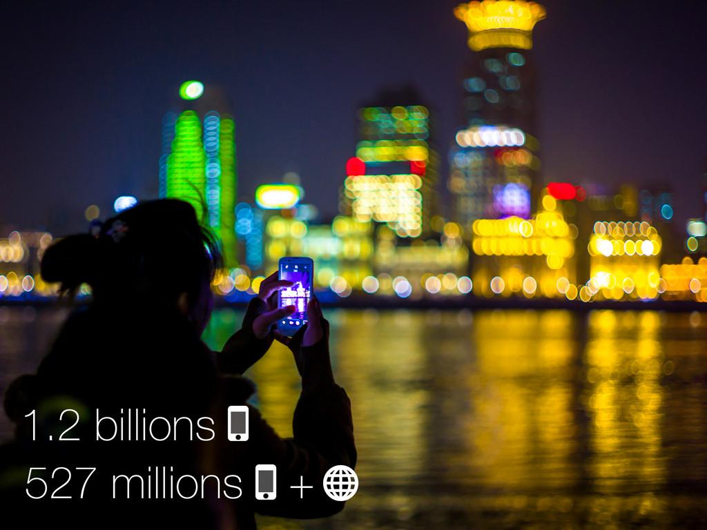 1.2 billions 527 millions +