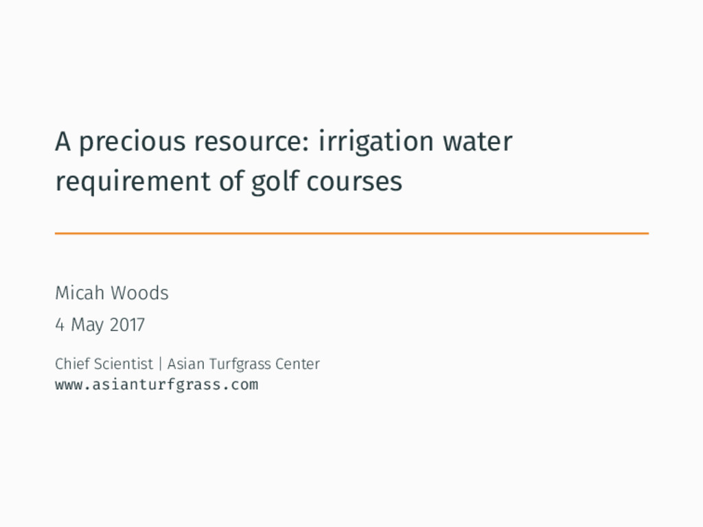 A precious resource: irrigation water requireme...