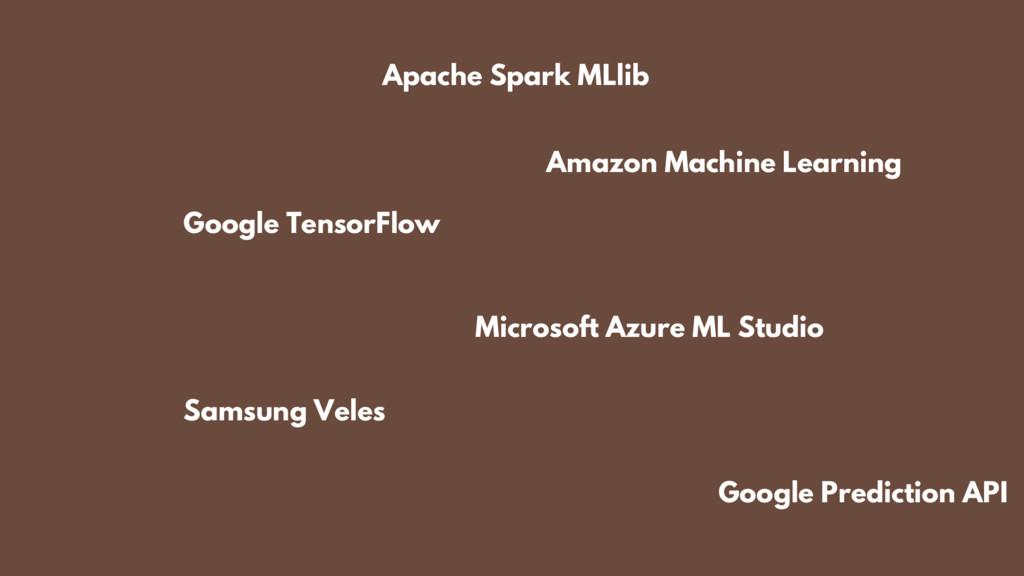 Apache Spark MLlib Microsoft Azure ML Studio Go...