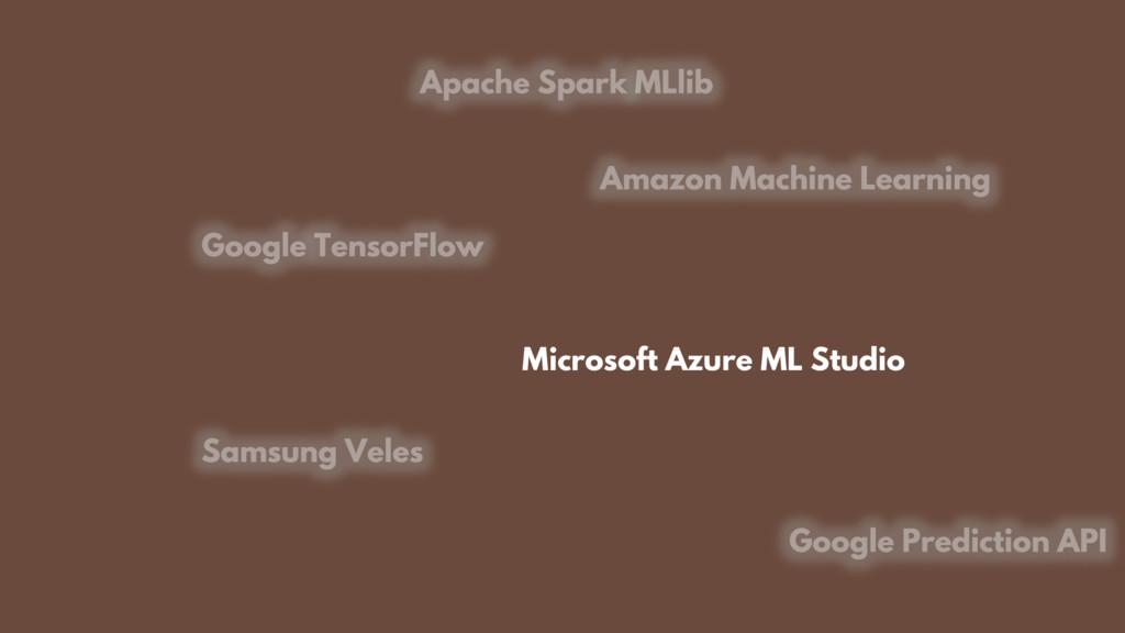 Microsoft Azure ML Studio
