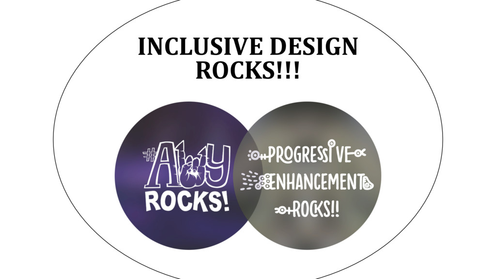 INCLUSIVE DESIGN ROCKS!!!