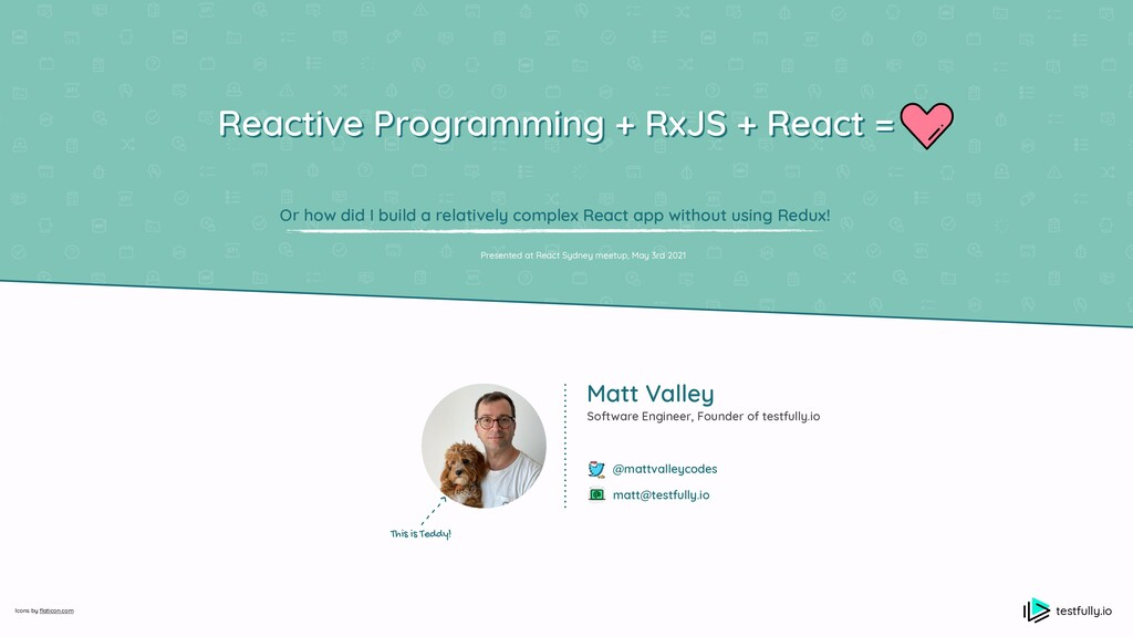 testfully.io Reactive Programming + RxJS + Reac...