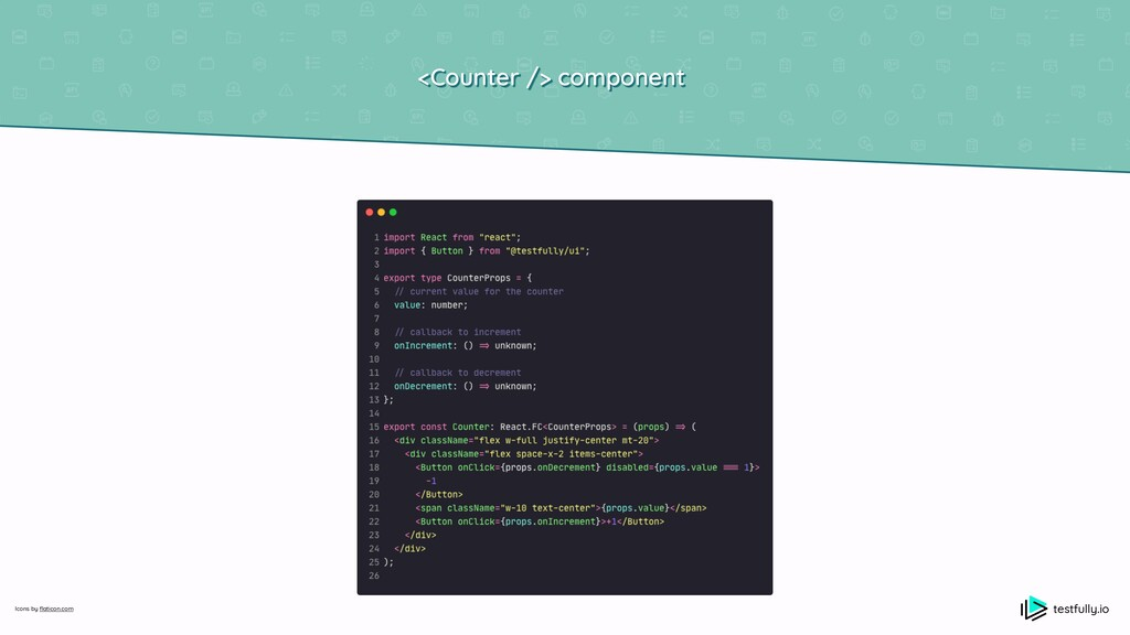 <Counter /> component testfully.io Icons by fl ...