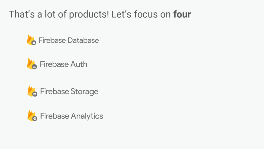 That's a lot of products! Let's focus on four