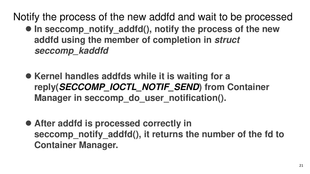 Notify the process of the new addfd and wait to...