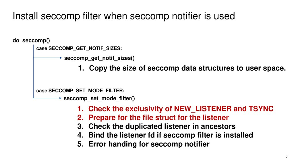 Install seccomp filter when seccomp notifier is...