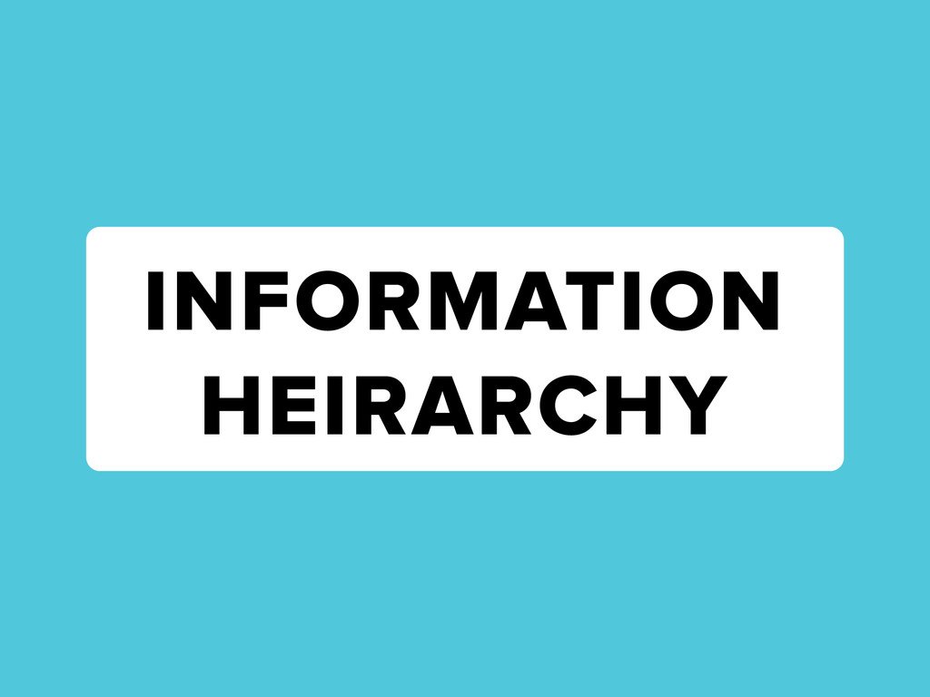 INFORMATION HEIRARCHY