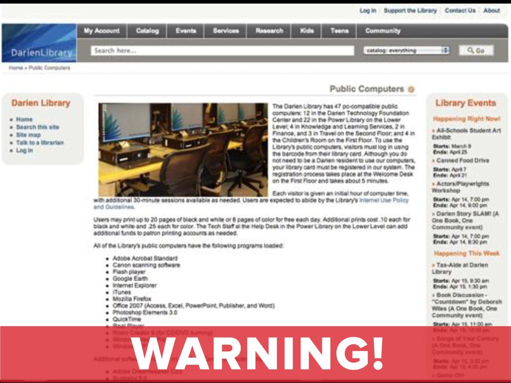website tips WARNING!