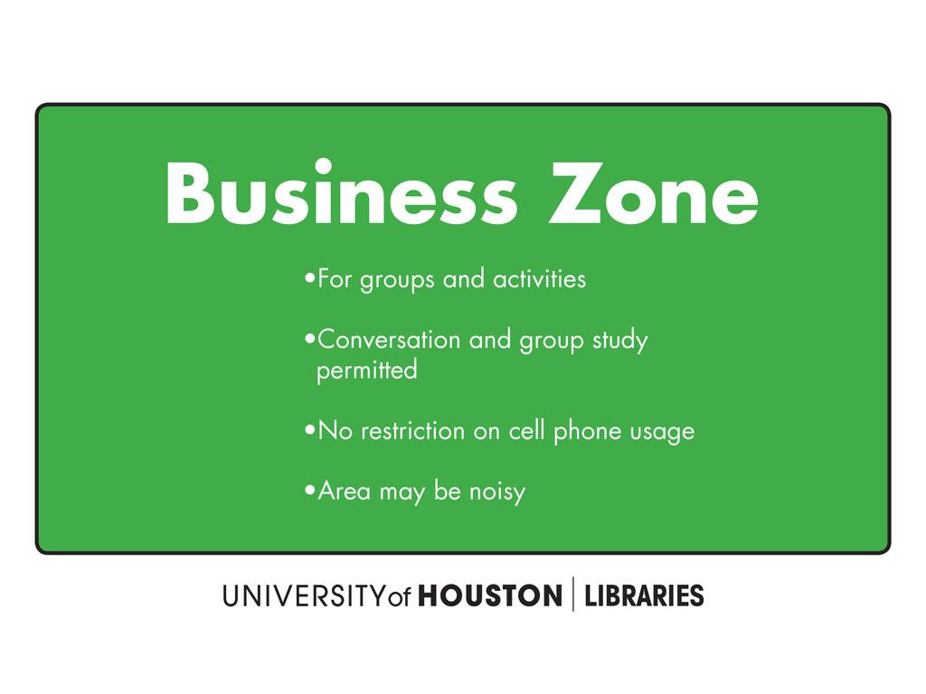 Business Zone t'PSHSPVQTBOEBDUJWJUJFT t$POWF...
