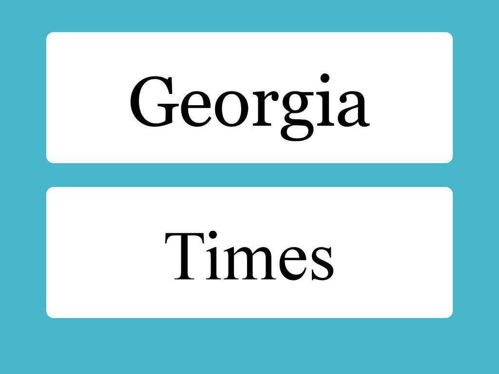 Times Georgia