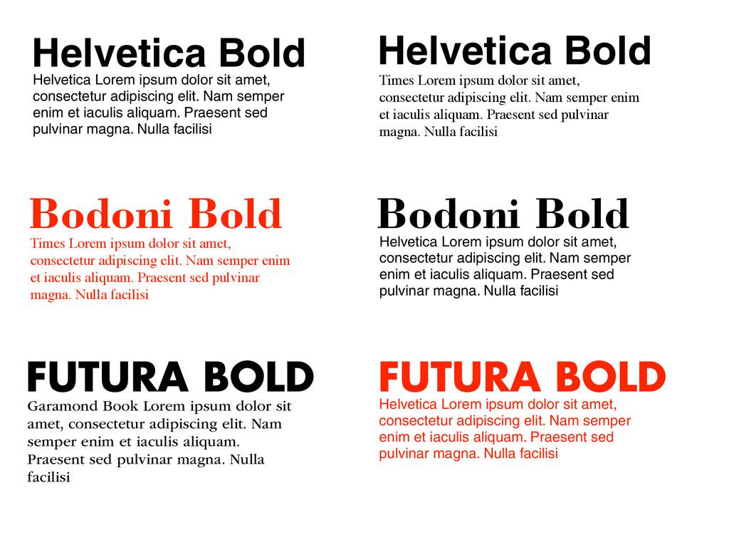 Helvetica Bold Helvetica Lorem ipsum dolor sit ...