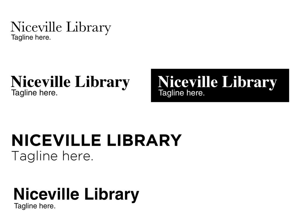 Niceville Library Tagline here. Niceville Libra...