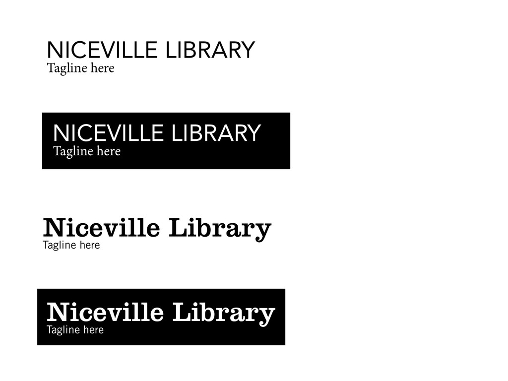 NICEVILLE LIBRARY Tagline here Niceville Librar...
