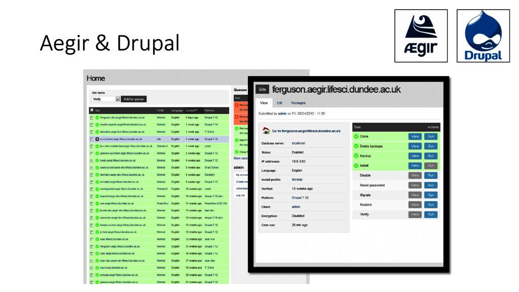 Aegir & Drupal