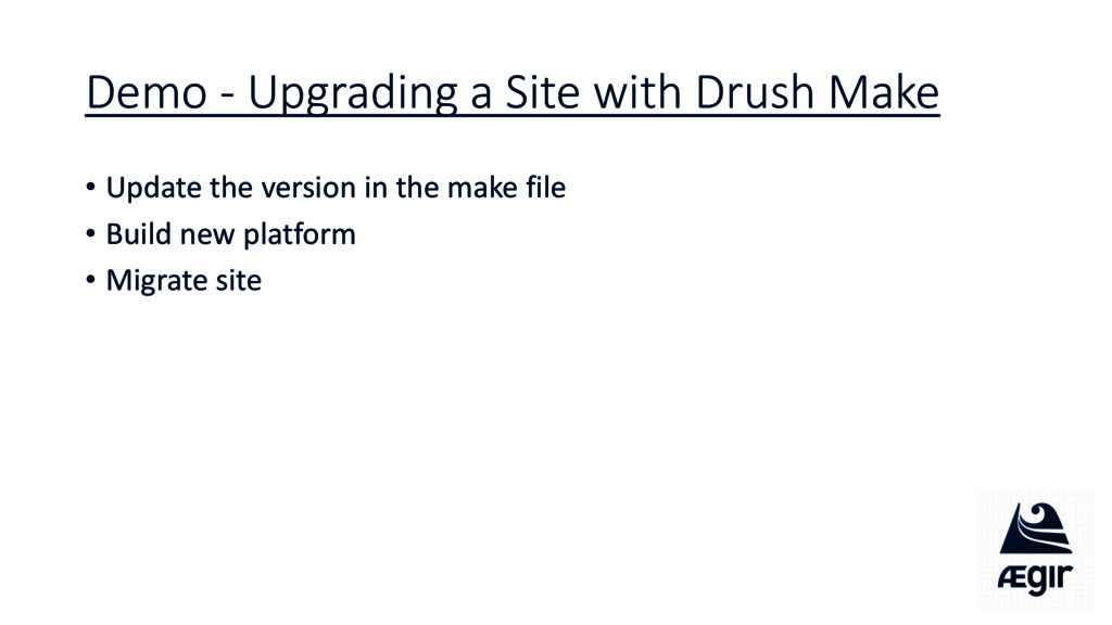 Demo - Upgrading a Site with Drush Make • Updat...