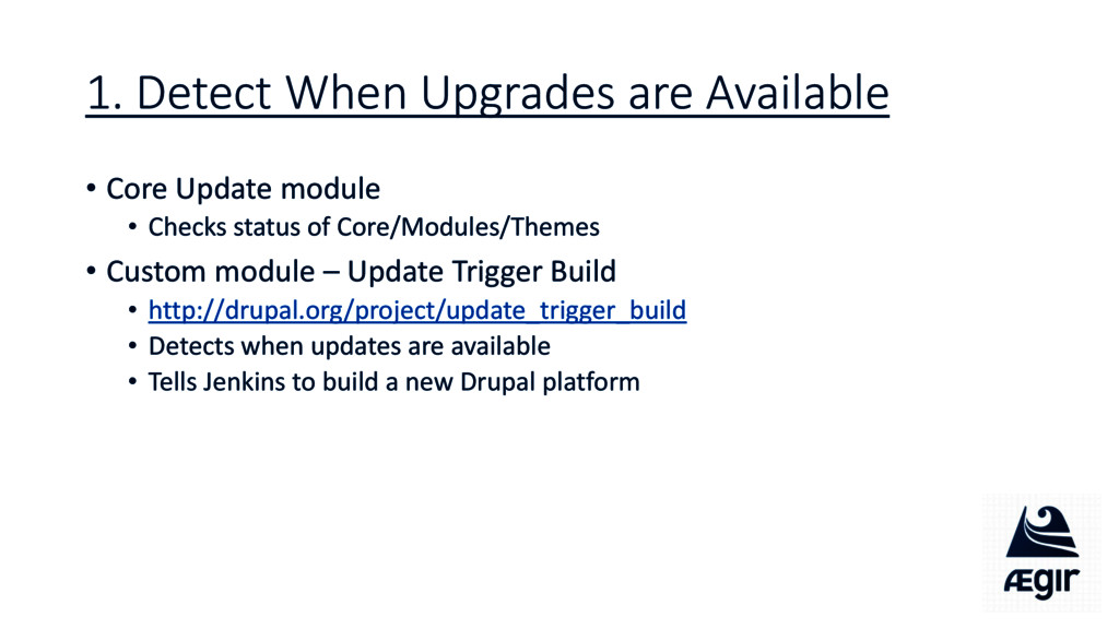 1. Detect When Upgrades are Available • Core Up...
