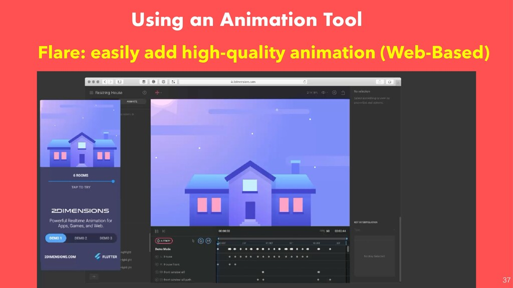 Using an Animation Tool  Flare: easily add hi...