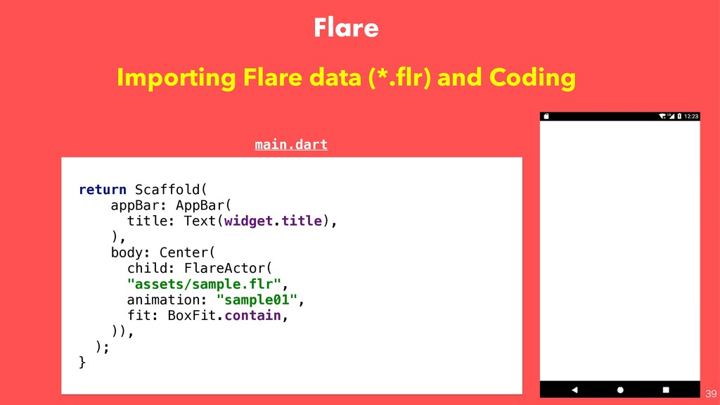 Flare  Importing Flare data (*.flr) and Coding...
