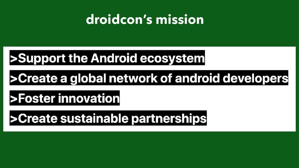 droidcon's mission