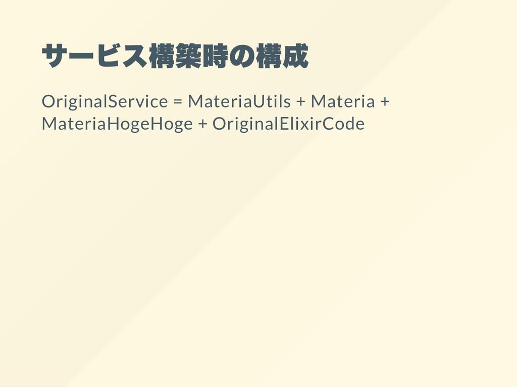 サービス構築時の構成 OriginalService = MateriaUtils + Mat...