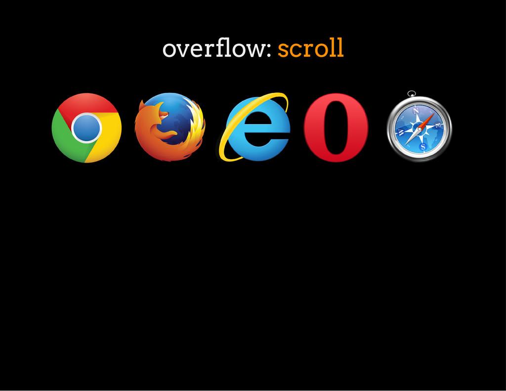 overflow: scroll