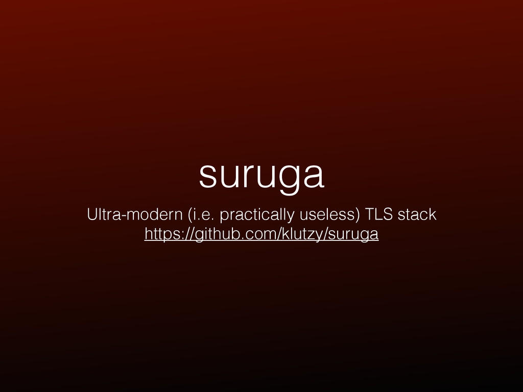 suruga Ultra-modern (i.e. practically useless) ...