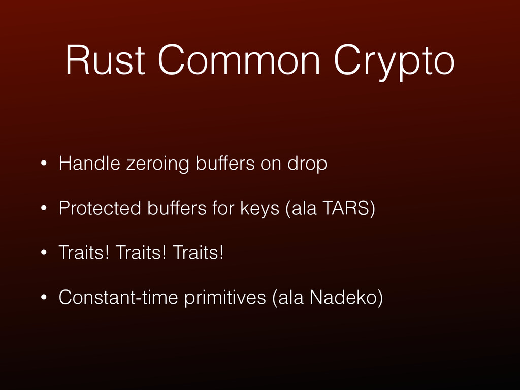 Rust Common Crypto • Handle zeroing buffers on ...