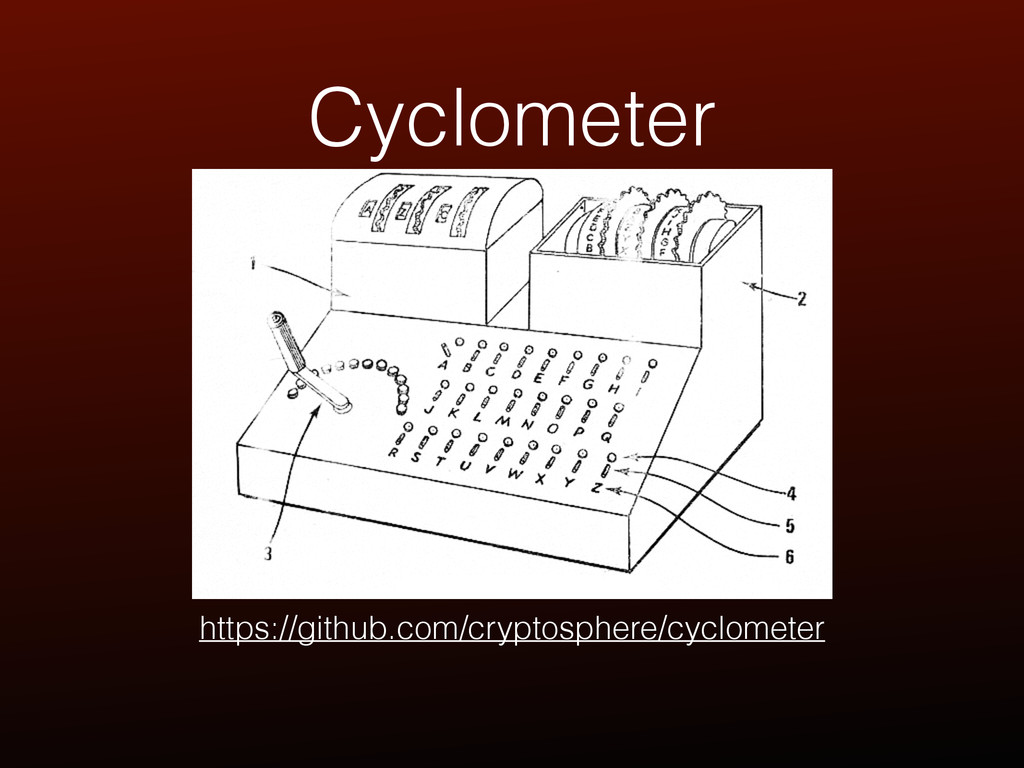 Cyclometer https://github.com/cryptosphere/cycl...