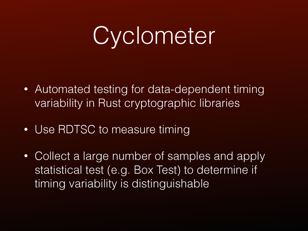 Cyclometer • Automated testing for data-depende...