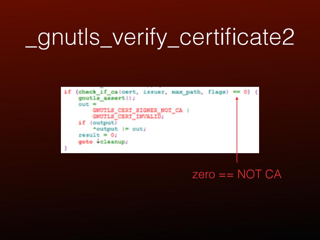 _gnutls_verify_certificate2 zero == NOT CA
