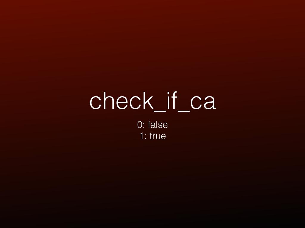 check_if_ca 0: false 1: true