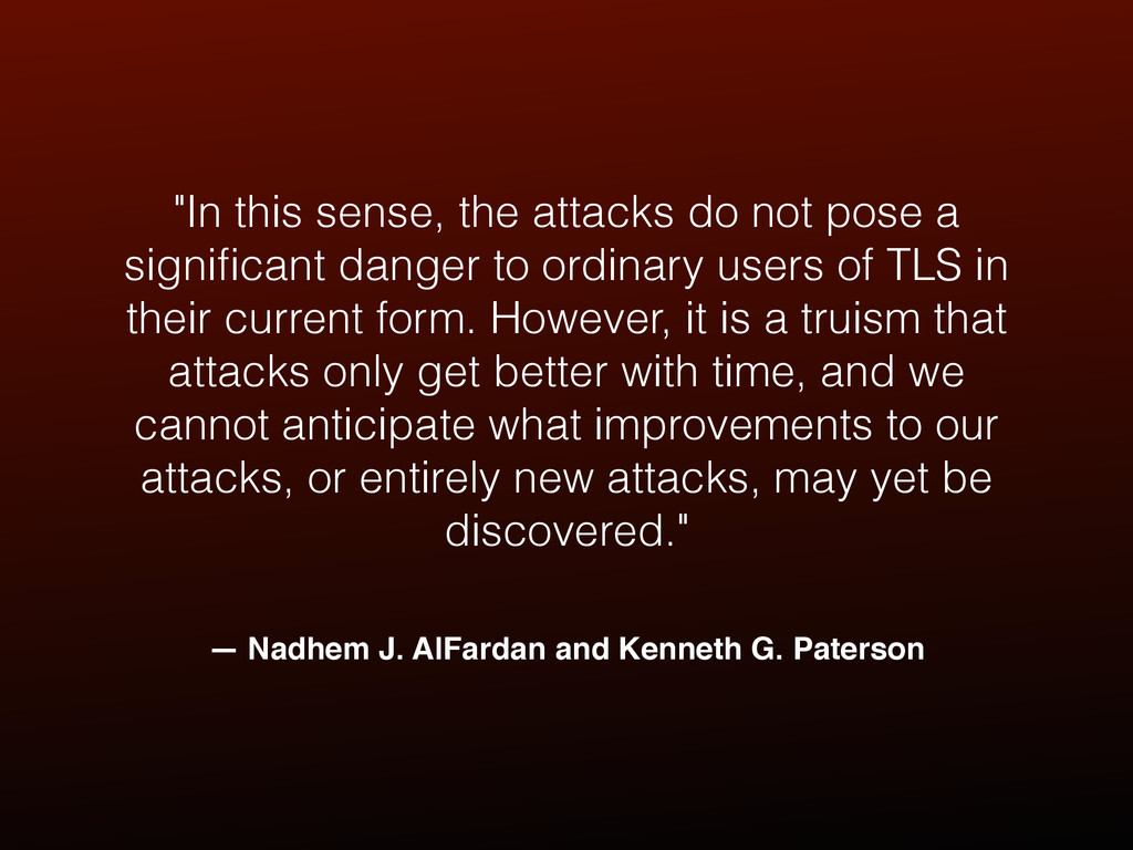"— Nadhem J. AlFardan and Kenneth G. Paterson ""I..."