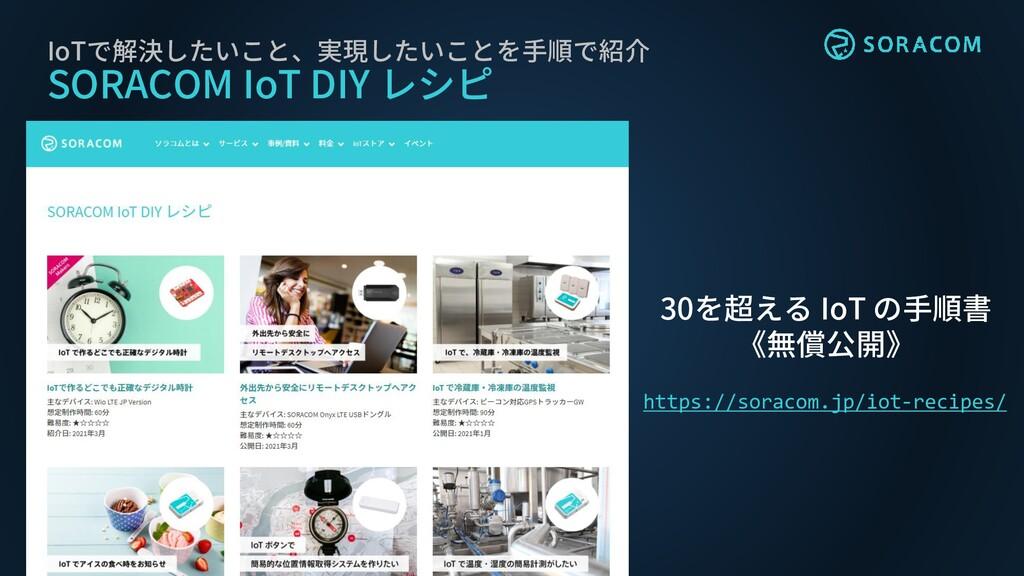 IoTで解決したいこと、実現したいことを手順で紹介 SORACOM IoT DIY レシピ 3...
