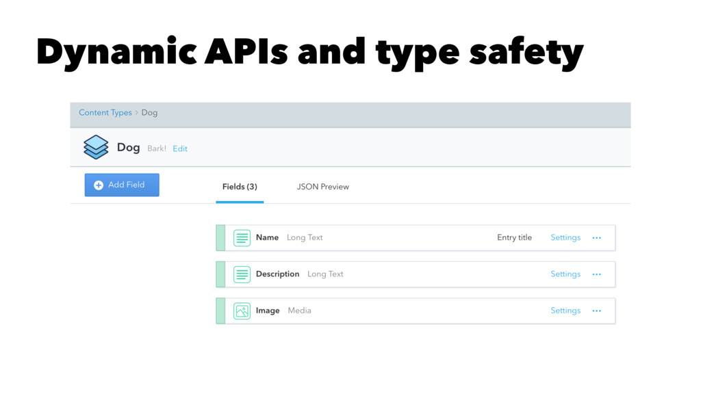 Dynamic APIs and type safety