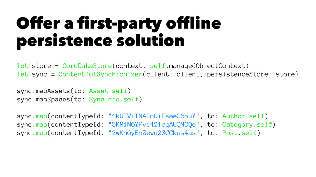 Offer a first-party offline persistence solutio...