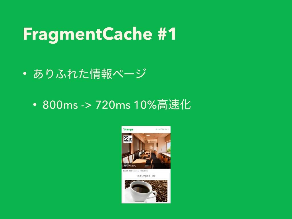FragmentCache #1 • ͋Γ;Εͨใϖʔδ • 800ms -> 720ms ...